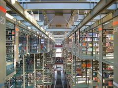 Marcos de acero en la biblioteca José Vasconcelos en la Ciudad de México.  Steel frames at Jose Vasconcelos library in Mexico City.  www.bibliotecavasconcelos.gob.mx