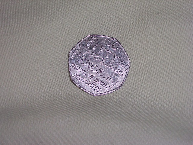 Header of 50 pence