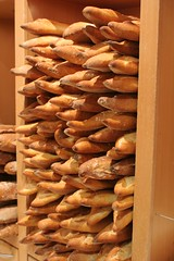 baking, bread, wood, whole grain, baked goods, bakery, food, snack food, baguette,