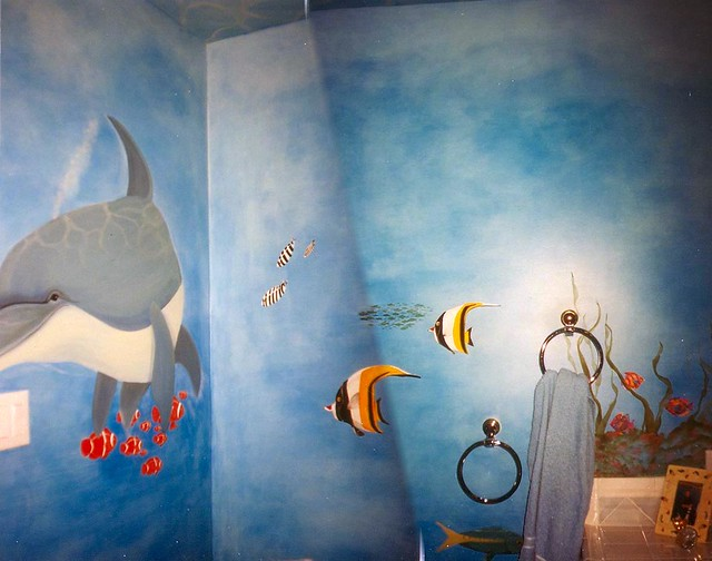 What paint should you use in a bathroom - Underwater Mural Painting Bathroom Wall Flickr Photo