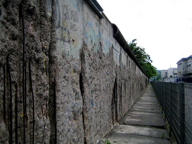 berlin wall remains map