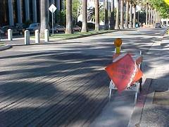 street work for SJ Grand Prix, Park Ave, San Jose, California, May 21, 2005