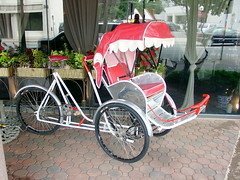 rickshaw, wheel, vehicle, land vehicle, carriage, tricycle,