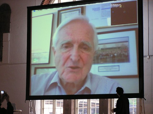 Doug Engelbart on video from Calif.