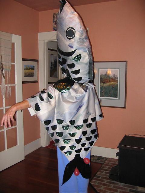 Fish head costume flickr photo sharing for Fish head costume