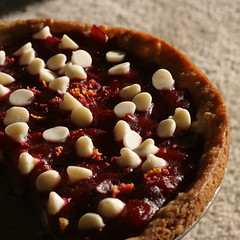 Cranberry and White Chocolate Chip Pizza Cookie