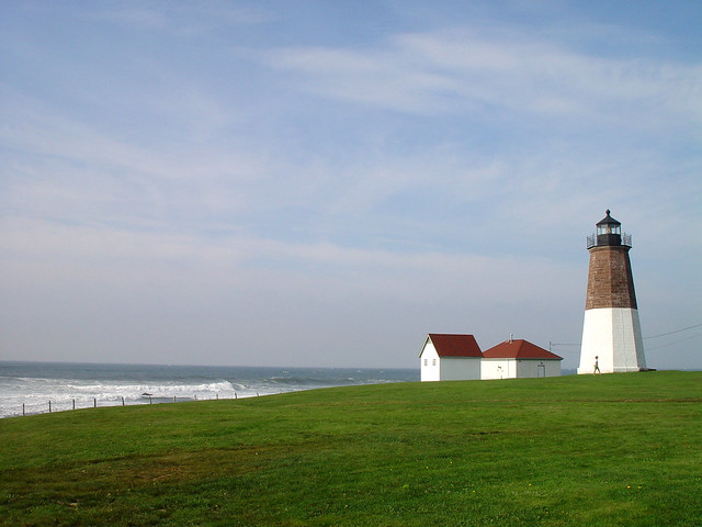Point Judith Lighthouse in Narragansett, Rhode Island
