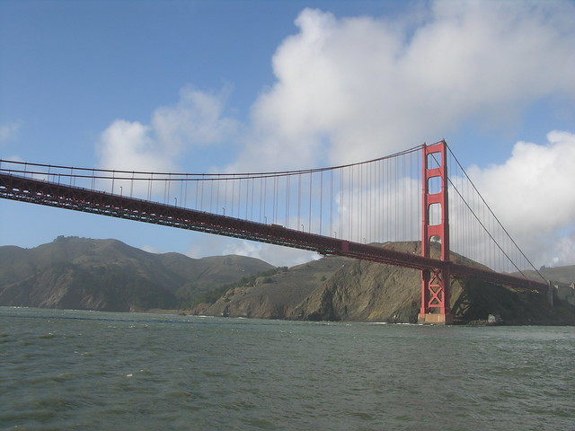 Golden Gate Bridge San Francisco Taken From A Boat
