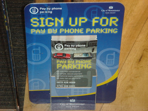 Parking by cellphone