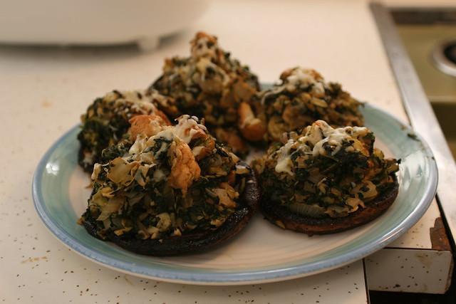 spinach and artichoke stuffed portobello mushrooms | Flickr - Photo ...