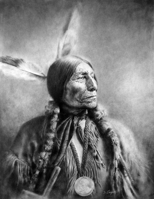 indian chief and wolf - photo #10