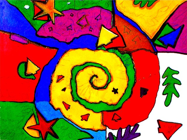 Catchy colour spiral