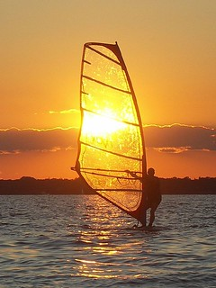 Solar Wind Surfing