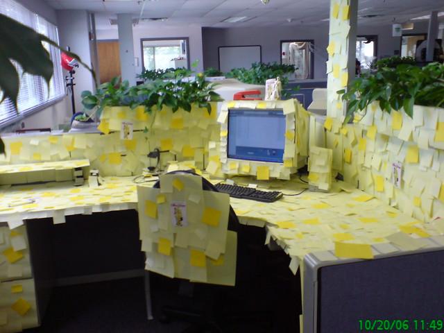 Mark's cube decor - Office Space theme | Flickr - Photo ...