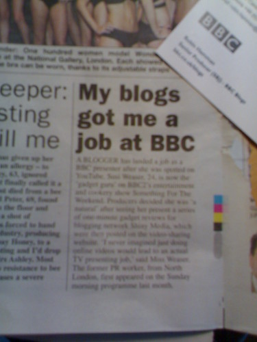 My blogs got me a job at BBC