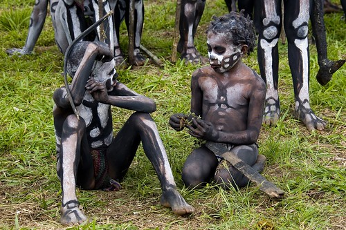Papua New Guinea skeletons kids