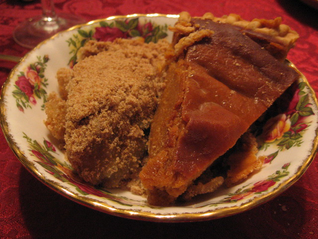 Homemade apple crumble pie and pumpkin pie   Flickr - Photo Sharing!