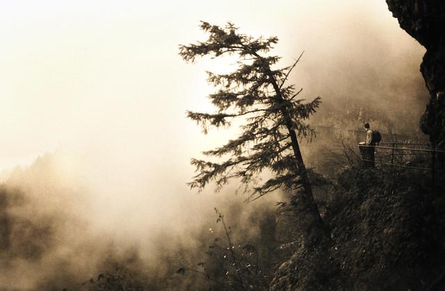 the rising mist at, Pentax K1000