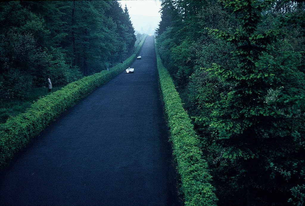 "The exciting ""straightaway"" - Nürburgring, Germany, 1960"