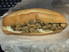 sandwich, baked goods, meat, food, dish, cheesesteak, cuisine,