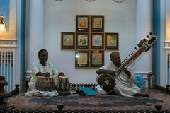Dining room musicians, Lalitha Mahal Palace Hotel, Mysore