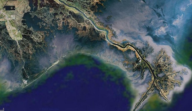 Mississippi River Delta Map http://www.flickr.com/photos/tobin/259022625/