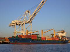 Container ship; Oakland, CA