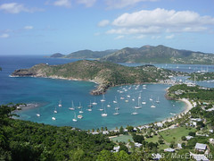 Beautiful bay in Antigua