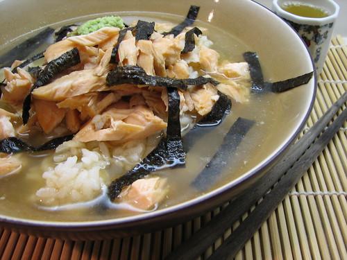 Ochazuke (Rice in Green Tea with Salmon)
