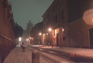 Изображение Corso Ercole I d'Este. snow ferrara