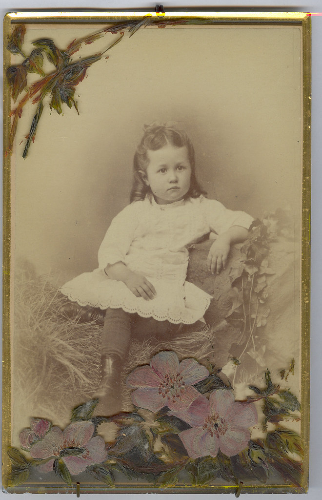 Homemade Memorial Card, Anonymous Young Girl