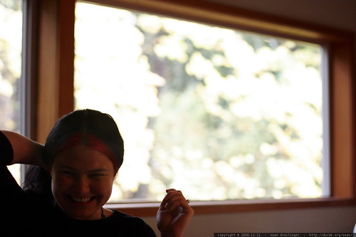 rachel laughing in the dining room    MG 5235