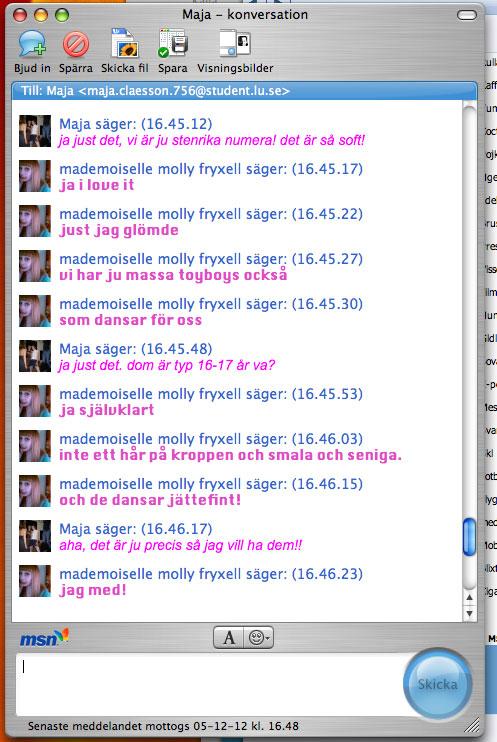 MSN conversation