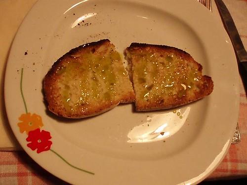 pan con l'olio
