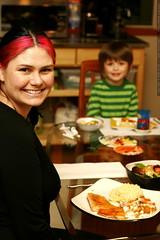 rachel and nick @ thanksgiving dinner    MG 6120