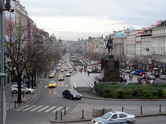 Wenceslas Square - Looking From the National Museum