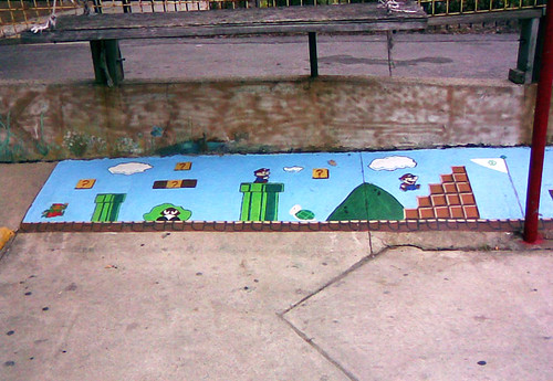 Mario painting on Spadina