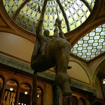 Upside Down Horse in Lucerna Passage - Prague, Czech Republic