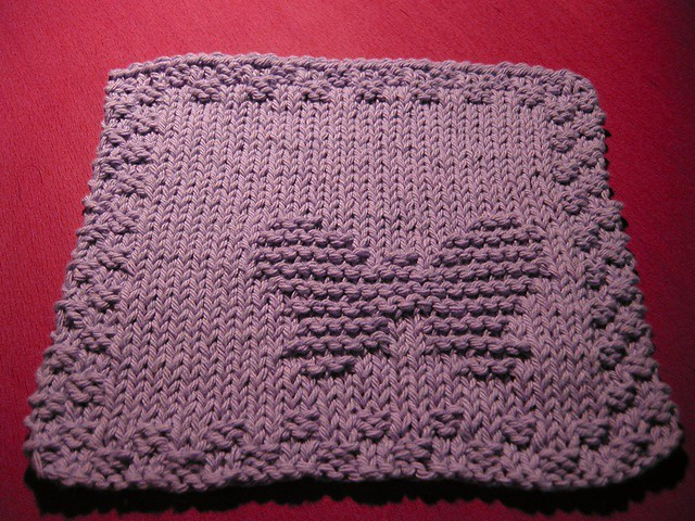 Free Knitting Pattern Butterfly Dishcloth : Butterfly dishcloth Flickr - Photo Sharing!