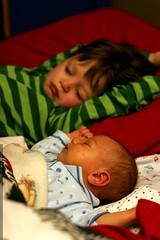 sleeping brothers   starfish position    MG 6347