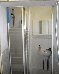 floor, room, property, interior design, plumbing fixture, shower, bathroom,