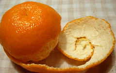 Two colours of mandarine