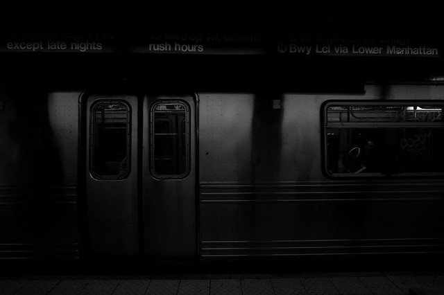 a dark train at a dark subway station flickr photo