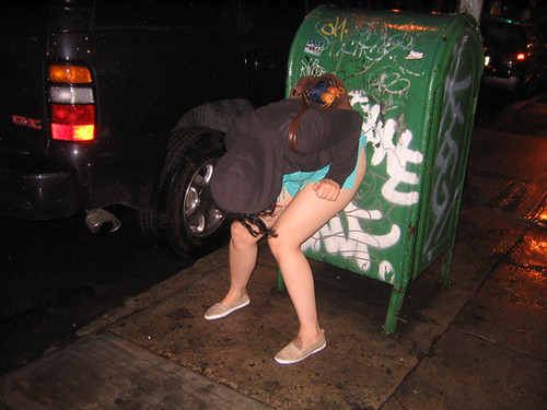 Girls peeing in the streets