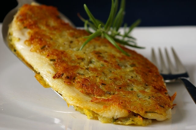 Potato rosemary crusted fish fillets flickr photo sharing for Potato crusted fish