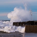 Crashing Wave - Grand Marais Harbor Light