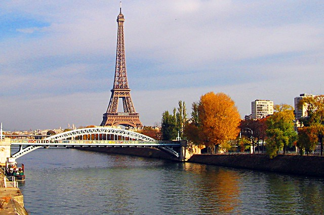 The Eiffel Tower, the Seine River, How Original for a View of Paris!