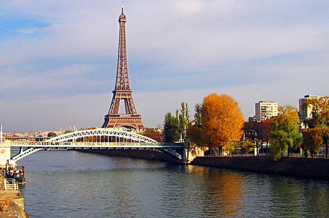 The Eiffel Tower, the Seine River, How Original for a View of Paris!
