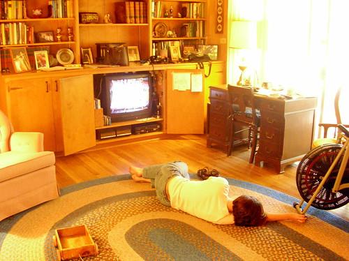 amy watching tv