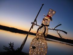 Pleasant Lake Snowman